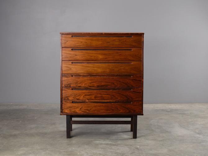 Mid Century Chest of Drawers Rosewood Dresser Danish Modern HNJ by MadsenModern