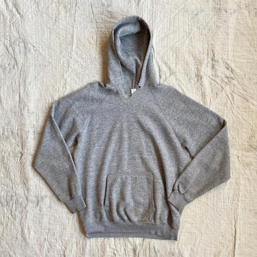 Vintage Tultex Heather Gray Athletic Hooded Sweatshirt by NorthGroveAntiques