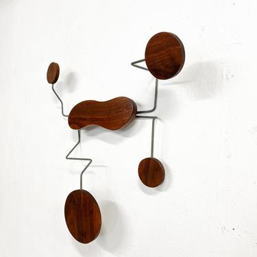 Mid-century Modern Organic Wall Sculpture Catch All Hat Coat Rack by AMBIANIC