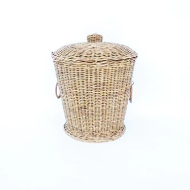 Large Vintage Danish Style Basket with Lid by PortlandRevibe