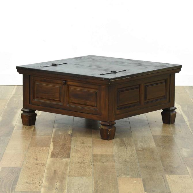 Large Spanish Revival Lift-Top Coffee Table W Storage
