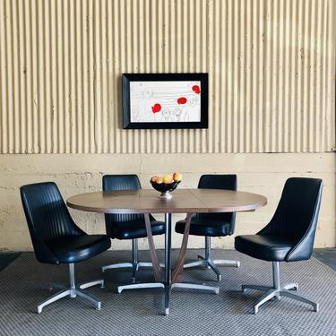 MCM Dinette Set w/ 4 Sculpta Chairs by Chromcraft