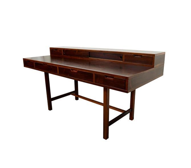Rosewood Desk Flip Top Desk Danish Modern Peter Lovig Nielsen by HearthsideHome