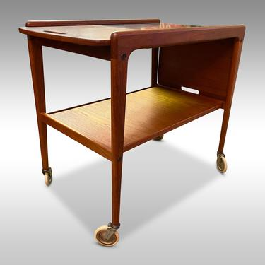 Swedish Teak Modern Bar Cart by Yngve Ekstrom, Circa 1960s - Please ask for a shipping quote before you buy. by CoolCatVintagePA