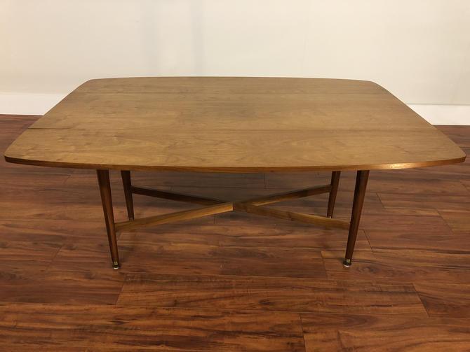 Drexel Declaration Walnut Drop Leaf Sofa Table / Dining Table by Vintagefurnitureetc