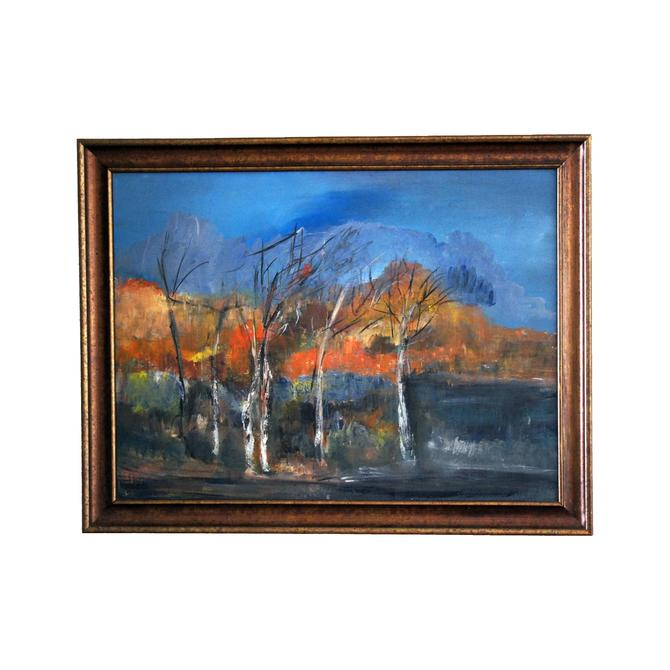 "Vintage Original ""Golden Fall"" Oil on Canvas Painting by MetronomeVintage"