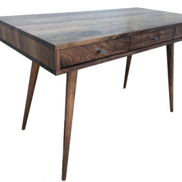 NEW Plywood Mid Century Desk with Cord Management by jeremiahcollection