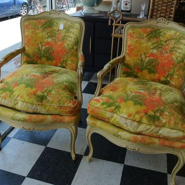 Floral Chairs. Two available