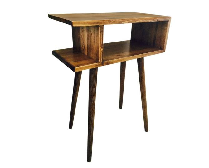 Mid Century Modern Side Table End Table by OrWaDesigns