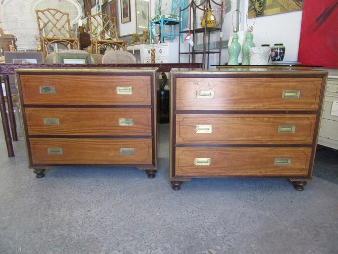 Pair of Baker Oversized Campaign Chests