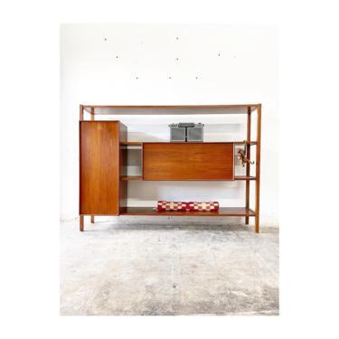 Mid Century Modern Bar Cabinet or Bookcase by FlipAtik