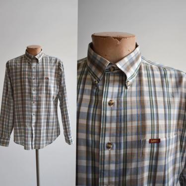 Vintage Lee Plaid Button Down Shirt by milkandice