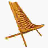 Wegner Style Danish Modern Teak Folding Slat Chair