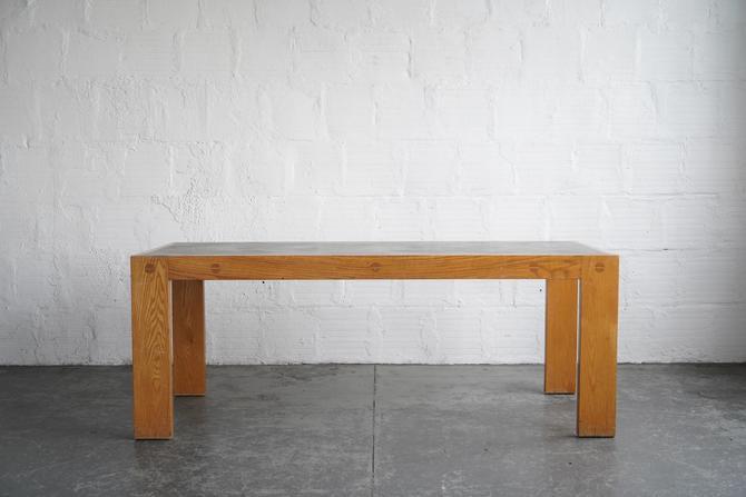 White Oak Table With Black Laminate