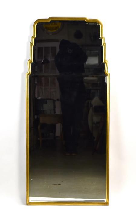 Vintage Queen Anne style Gilt Wood Beveled Glass Waterfall Edge Wall Mirror by PrairielandArt