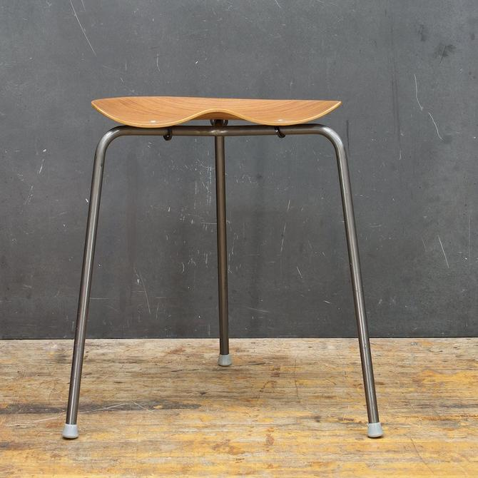 Rare Danish Mid-Century Teak Saddle Three Leg Stool Bent Teak Plywood Vintage Mad Men Scandinavian by CabinModernDC