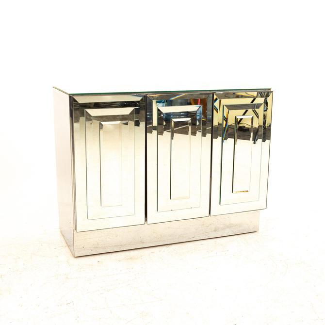 Ello Skycraper Mid Century Mirrored Bar Cabinet - mcm by ModernHill