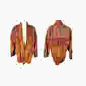 Fringe Jacket, Vintage Clothing, 80's, Animal Print, Brown Leather, Beaded Fringe, Size Medium, Fringe Leather Jacket, Western, Moto by DakodaCo
