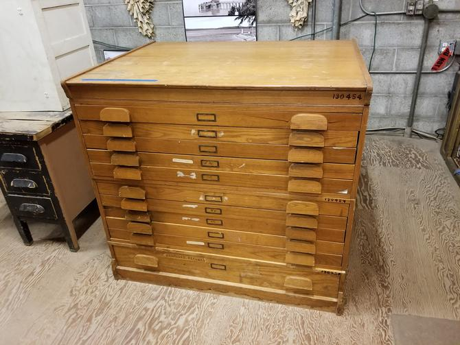 """Awesome 11-Drawer Flat File (with files in each drawer) 45.5"""" W by 35"""" D by 41.75"""" T"""