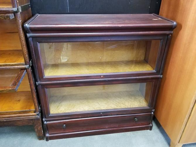 Vintage Mahogany Barrister Bookcase