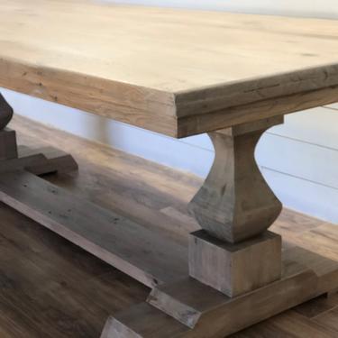 Modern Farmhouse Trestle Base Dining Table by HickoryandHaze