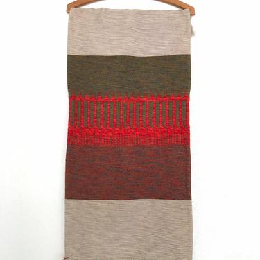 """Handmade Mid Century Dutch Wool Tapestry / Table Runner by """"De Ram"""" Art Weaving by TheThriftyScout"""