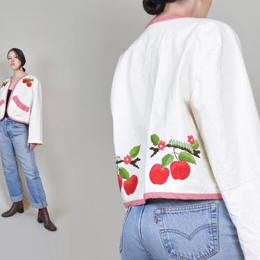 Vintage Caterpillar Coat | Quilted Crop Jacket | Cottagecore by WisdomVintage