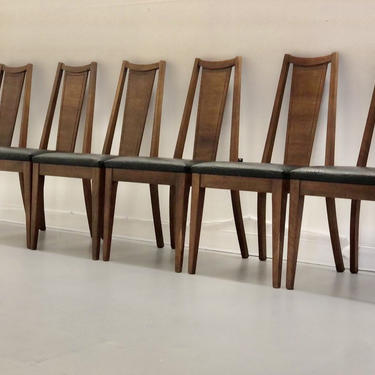 Free and Insured Shipping Within US - Set of 6 Vintage Mid Century Modern MCM Dining Table Room Chairs by BigWhaleConsignment