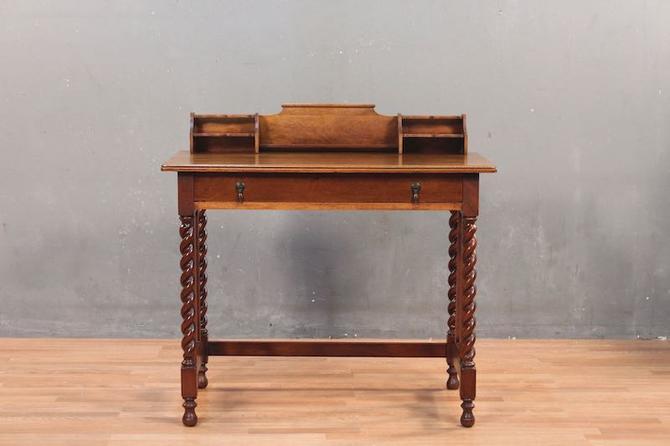 Twist-Leg 1-Drawer Gallery Desk