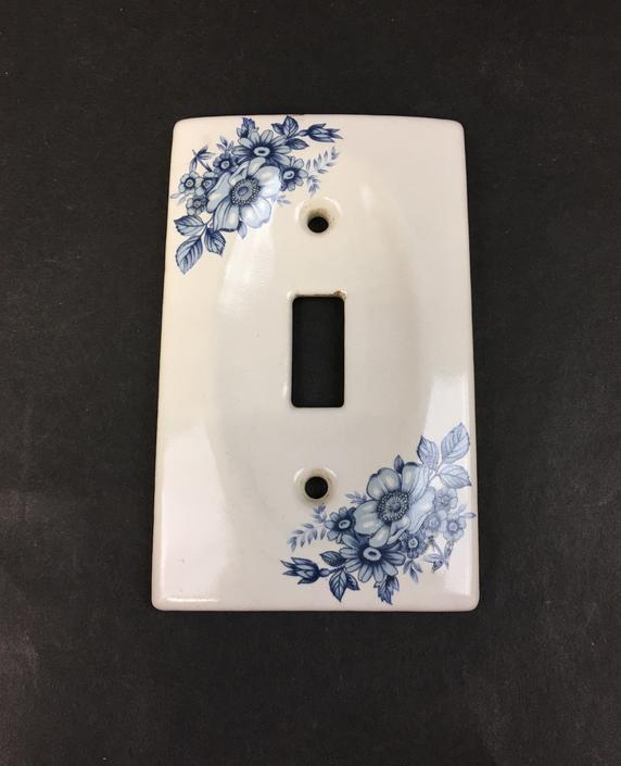 Blue and White Porcelain Switch Plate Cover
