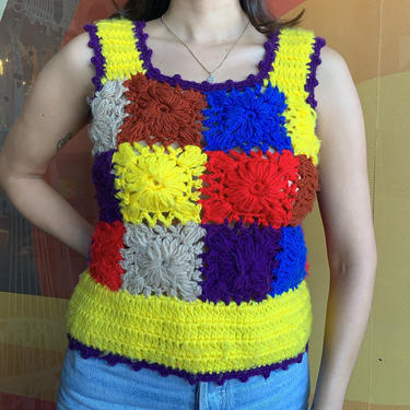 70's Hand Crochet Top by laloupevintage