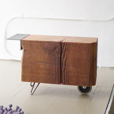 CUSTOM RESERVE for Jacqueline - reclaimed wood coffee table - wheel koan coffee table - modern - functional proun - mobile serviceable art by birdloft