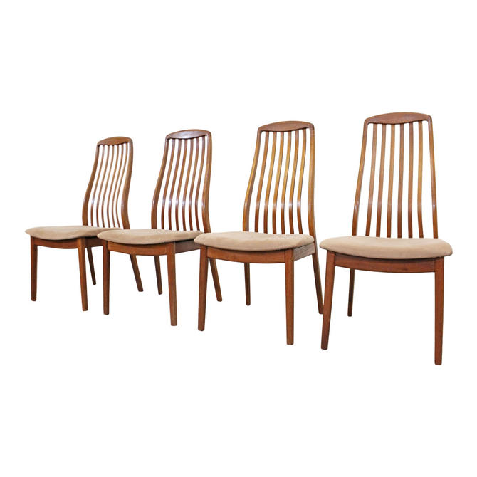Brilliant Schou Andersen Danish Modern Teak Dining Chairs Mid Century Bralicious Painted Fabric Chair Ideas Braliciousco
