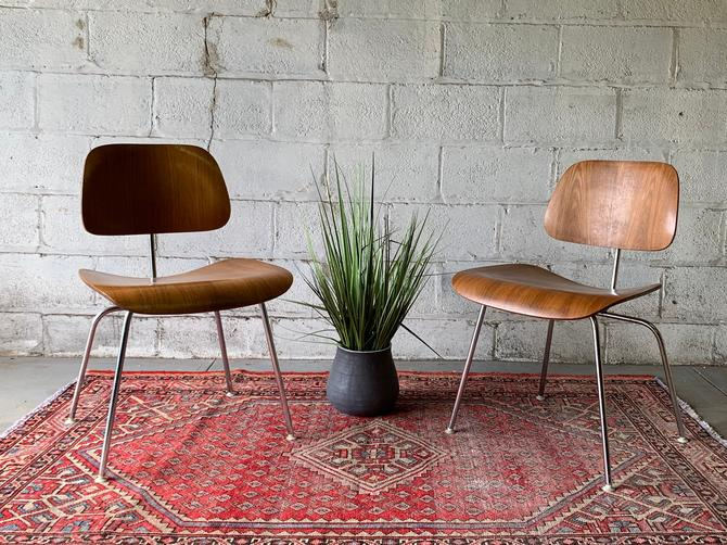 Herman Miller Mid Century Modern EAMES DCM CHAIRS by CIRCA60