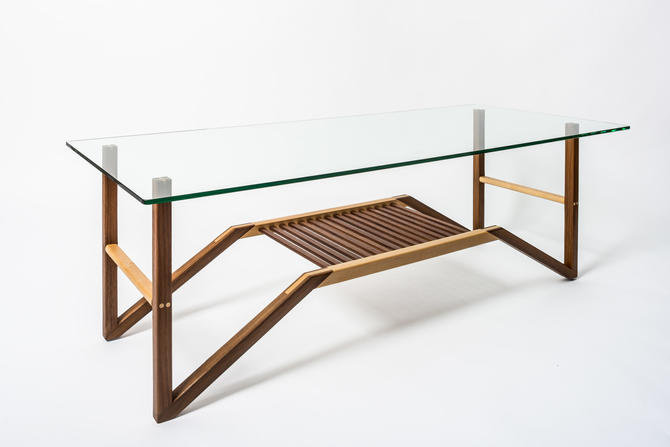 Modern Glass-Top Coffee Table by BenNewmanFurniture