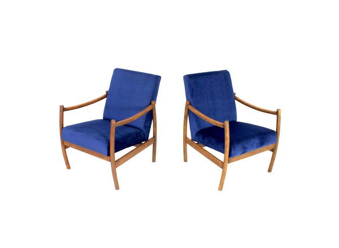 Pair Of Swedish Mid Century Lounge Chairs by SputnikFurnitureLLC