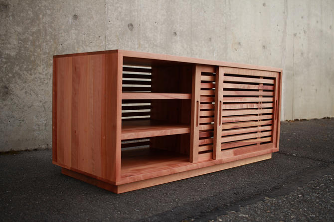 Rosenberg Foyer Bench, Entry Bench, Storage Bench, Shoe Bench (shown in Madrone) by TomfooleryWood