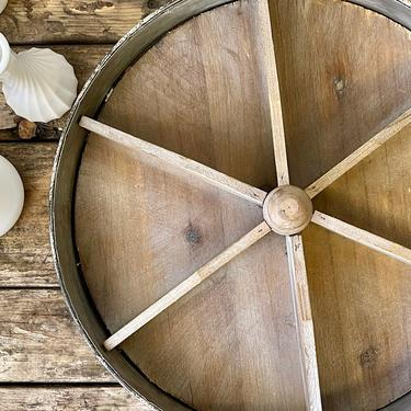 Round Wood Divided Tray with Handle   Round Centerpiece Tray   Fruit Bowl   Fall Display   Bathroom Storage   Spice Rack   Farmhouse by PiccadillyPrairie