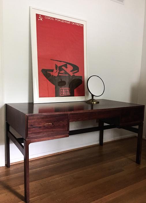 Rare Rosewood Desk by Arne Wahl Iversen for Vinde Møbelfabrik, Denmark, 1960 vanity credenza mid century danish modern by CaribeCasualShop