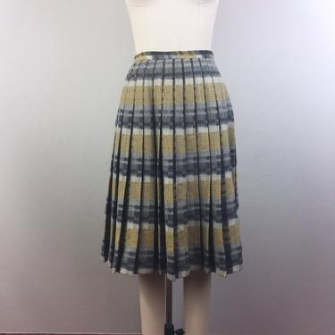 Vintage 60s Wool PLAID Pleated Skirt Mod Schoolgirl House Of Suburbia 1960s S by FlashbackATX