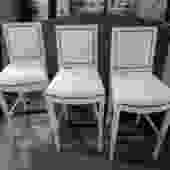 SET OF THREE HICKORY CHAIR BARSTOOLS