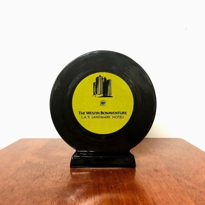 "Vintage The Westin Bonaventure L.A.'s Landmark Hotel ""The Record Breaker"" Planter Vase by OverTheYearsFinds"