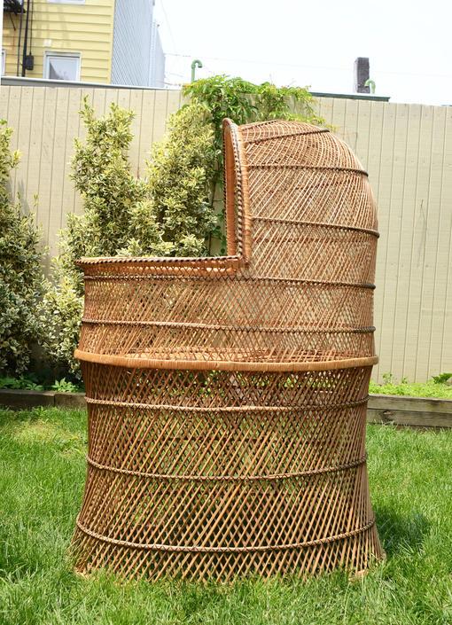 vintage wicker freestanding bassinet by fingerlickingvintage