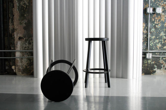 Pair of Metal Counter Stools by Naota Fukasawa