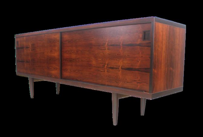 Scandinavian Modern Rosewood Sideboard/Credenza Designed by Niels O. Moller