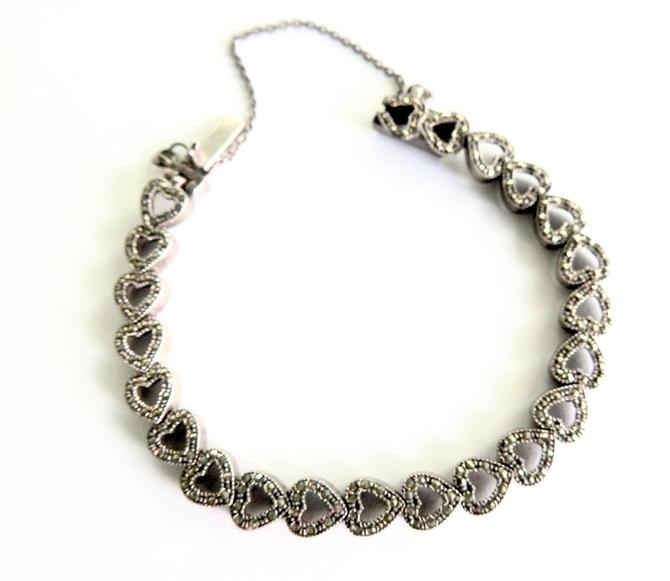 Sterling Marcasite Hearts Bracelet by LegendaryBeast