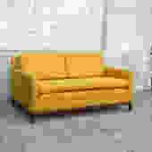Vintage Mustard Tweed Love Seat