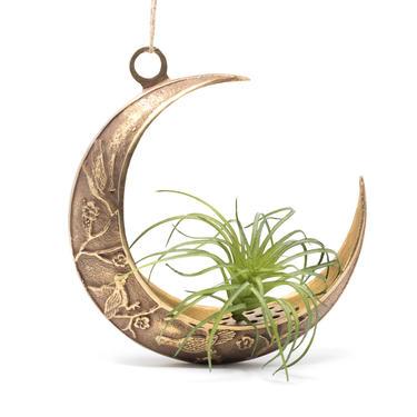 Brass Crescent Shape Ikebana Planter, Vintage Flower Frog Vase by GreenSpruceDesigns