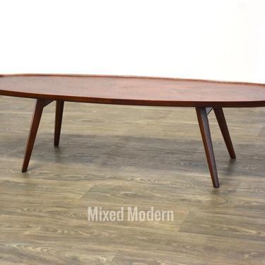 Edward Wormley Walnut Surfboard Coffee Table for Dunbar by mixedmodern1