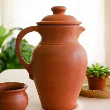 Handmade Terracotta pitcher, Terra-cotta pitcher, water jug, clay jug, farmhouse décor, Mother's Day gift, unique pottery, home décor by TerracottaTales